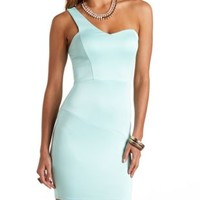 One Shoulder Bodycon Dress by Charlotte Russe - Mint