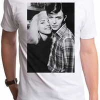 David Bowie and Debbie Harry Mens Retro T-Shirt