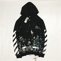 OFF-WHITETROND LIFE 17AW Starry Sky Fireworks Hoodie Sweater S-XL