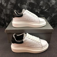 Alexander Mcqueen Oversized White Black Sneakers - Best Online Sale