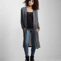 Long Sleeve Striped Duster Cardigan