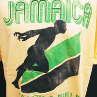 Vintage Jamaica Track And Field T-Shirt XL Tourist Holiday
