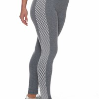 Gray Scale Brazilian Workout Legging
