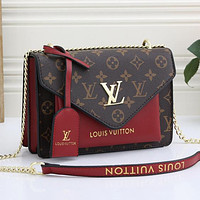 Louis Vuitton LV Fashion Leather Crossbody Satchel Shoulder Bag