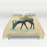 Watering (A Life Into Itself) Duvet Cover by Picomodi