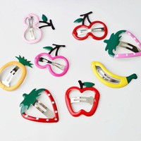 2 pieces Fruit hairpin simple Barrettes Decoration Girl Hair Accessory kids hair clip accessories