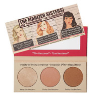 The Manizer Sisters 3 Color Face Pressed Powder Mary-Lou Betty-Lou Cindy-Lou Shimmer Powder Palette