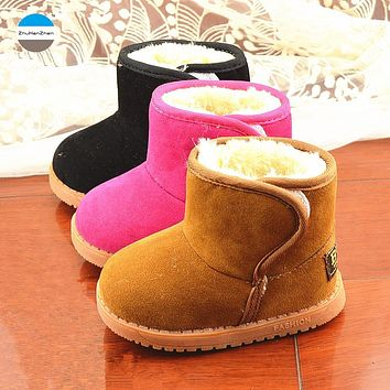 2018 Winter baby boots 1 to 5 years old boy and girl cotton shoes warm children snow boots classic kids short boots sport shoes