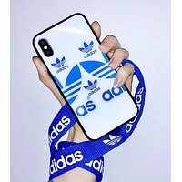 Adidas Fashion Couple iPhone Phone Cover Case For iphone 6 6s 6plus 6s-plus 7 7plus iPhone X XR XS XS MAX White