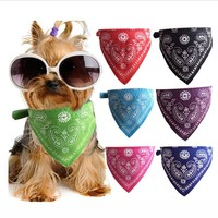 Pet Scarf Collar for Small Dogs Fashion Paisley Printing Dog Collar Accessories Adjustable Bow Tie Cat Collars with Bandana