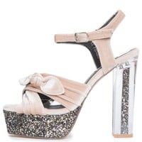 Cape Robbin Coralee-2 Women's Nude High Heels