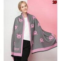 MOSCHINO Fashionable Women Men Cashmere Cape Scarf Scarves Shawl Accessories
