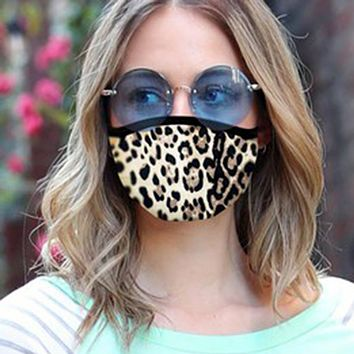 Face Mask - animal print, leopard