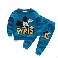 Mickey Mouse in Paris Baby Boy Jacket and Pants Set