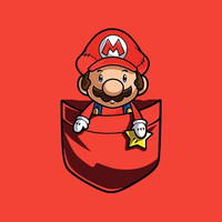 Pocket Mario Adult Tee Shirt