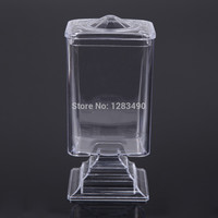 Makeup Cotton Pad Box Nail Art Remover Paper Wipe Holder Container Storage Case Transparent make up nail styling tools