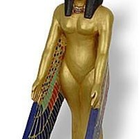 Isis Egyptian Mother Goddess Protection Pose Golden Statue, Assorted Sizes