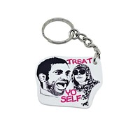 Donna and Tom Treat Yo Self Keychain