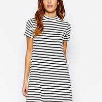 Warehouse Striped Swing Dress