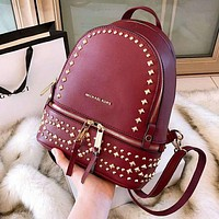 MK 2018 new fashion one shoulder shoulder rivet wild women's bag