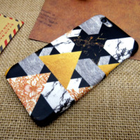 Fashion Marble Mosaic Pattern iPhone7 7 Plus & 6 6s Plus &5 5s Se Cover Case Best Gift 009