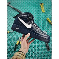 Nike Air Force 1 07 Mid Utility Pack Black White Af1 Fashion Shoes