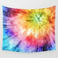 Tie Dye Watercolor Wall Tapestry by Phil Perkins