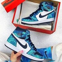 NIKE Air jordan 1 AJ1 men's and women's high-top sneakers Shoes