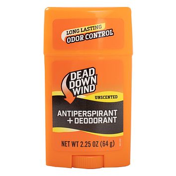 Dead Down Wind Men's Antiperspirant Deodorant Stick | 2.25 Ounce | Unscented, Long Lasting, Chemical & Organic Odor Eliminator, Safe for Sensitive Skin | Hunting Accessories 2.25 Ounces