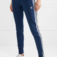 ADIDAS ORIGINALS Superstar striped satin-jersey track pants