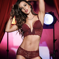 Plunging Bra And Panty Set