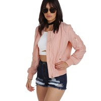 Pink She's Bomber Jacket