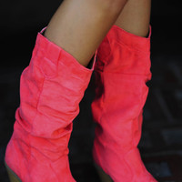 Summer Stroll Boots: Coral | Hope's