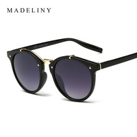 New Fashion Round Sunglasses Women Brand Designer Vintage Gradient Sun Glasses Female Retro Mirror Glasses Oculos De Sol MA294
