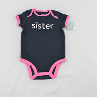 "Girls Carter's ""Little Sister"" Bodysuit, size 6 months"