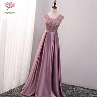 Popodion Long style sister bridesmaid dresses dress for wedding party vestido de festa ROM80078