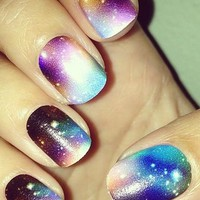 Galaxy Nail Art Galore. | Nail Art