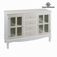 Cabinet four drawers two glass - Spring Collection by Craften Wood