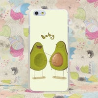 Avocado Baby Hard Transparent Case Cover for iPhone 4 4s 5 5s SE 5C 6 6s Plus