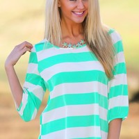 Cut & Run Blouse-Mint