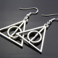 Fashion jewelry Silver Harry Potter - Luna Lovegood The Deathly Hallows earring  jewelry,  earring Silver Plated
