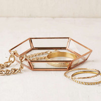 Hexagon Glass Trinket Dish - Urban Outfitters