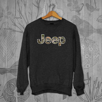 jeep camo logo Unisex Adult Long Sleeve T-Shirt Sweater Sweatshirt, for men and women Available Size S,M,L,XL,XXL