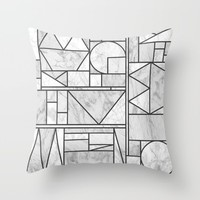 Kaku Stone Throw Pillow by Fimbis