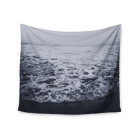 "Leah Flores ""Out to Sea"" Gray Coastal Wall Tapestry"