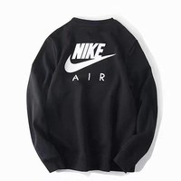 NIKE AIR's terry print hooded sweatshirt casual sport tank top coat for men's casual wear