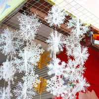 30PCS Fashion Christmas Festival Party Xmas Tree Ornament Snowflakes Decoration (Size: 11 cm, Color: White) = 1946405380