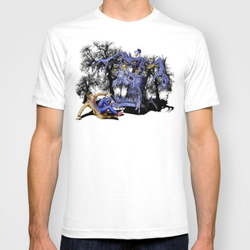 Halloween Monster tardis with Doctor Who Made in USA Short sleeves tee tshirt