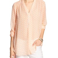Banana Republic Womens Factory Button V Neck Blouse