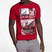 FITTED SLUB GRAPHIC TEE - BITE THE BULLET